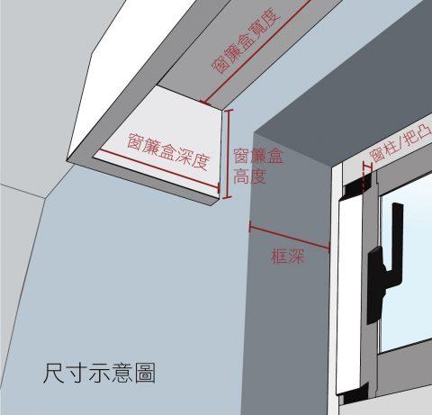 窗簾盒 窗簾訂製 窗簾型式 curtain box size