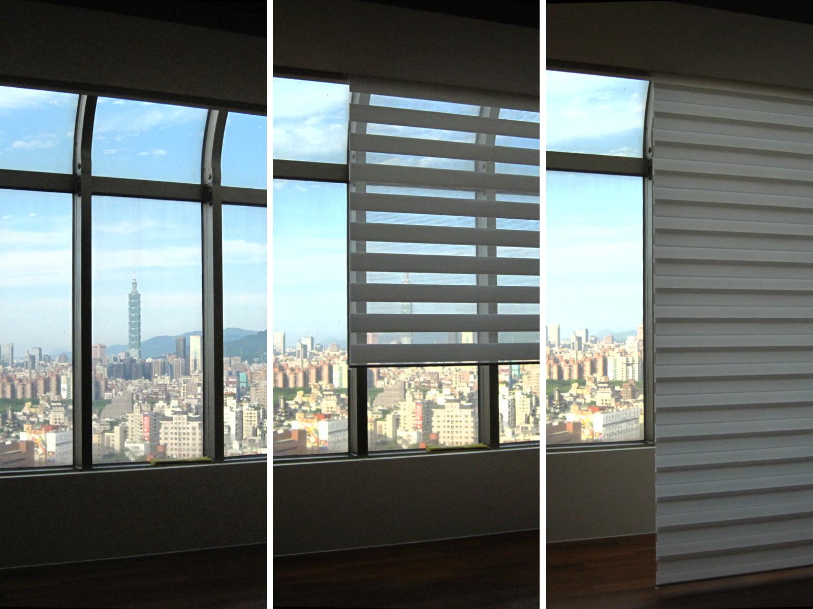 [案例] 如果看膩了Taipei101-調光斑馬簾