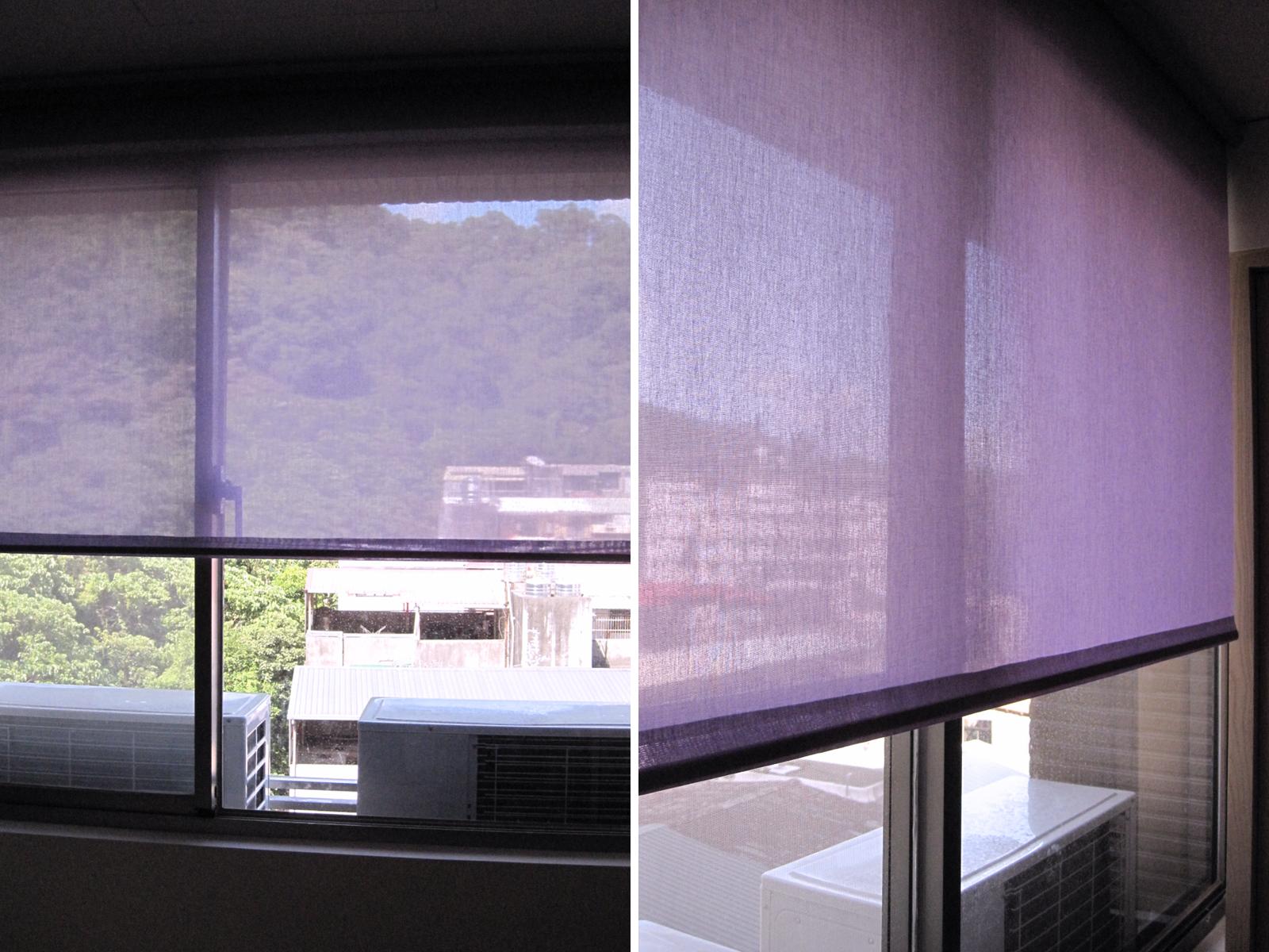 [案例] 溫馨小公寓的窗簾色彩遊戲-捲簾