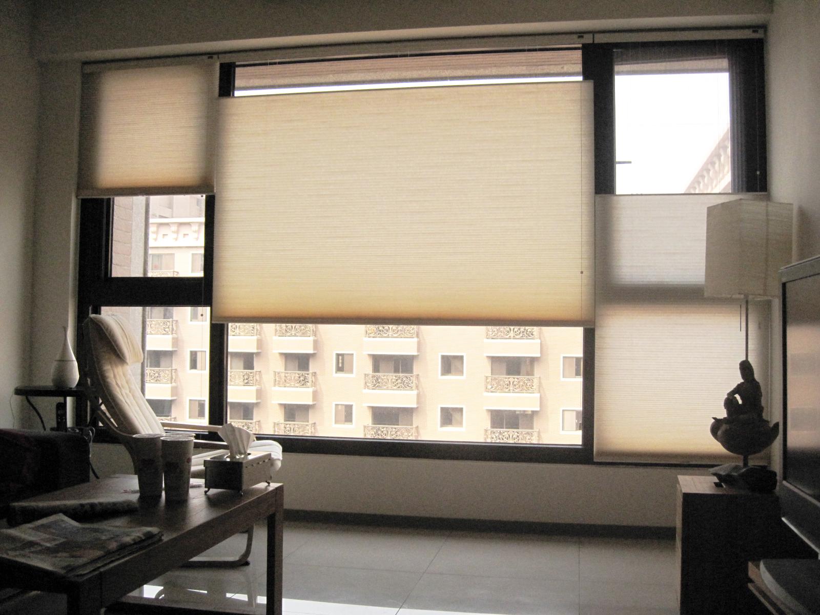 [案例] 想要怎樣的高低窗景,隨心所致-上下開蜂巢簾