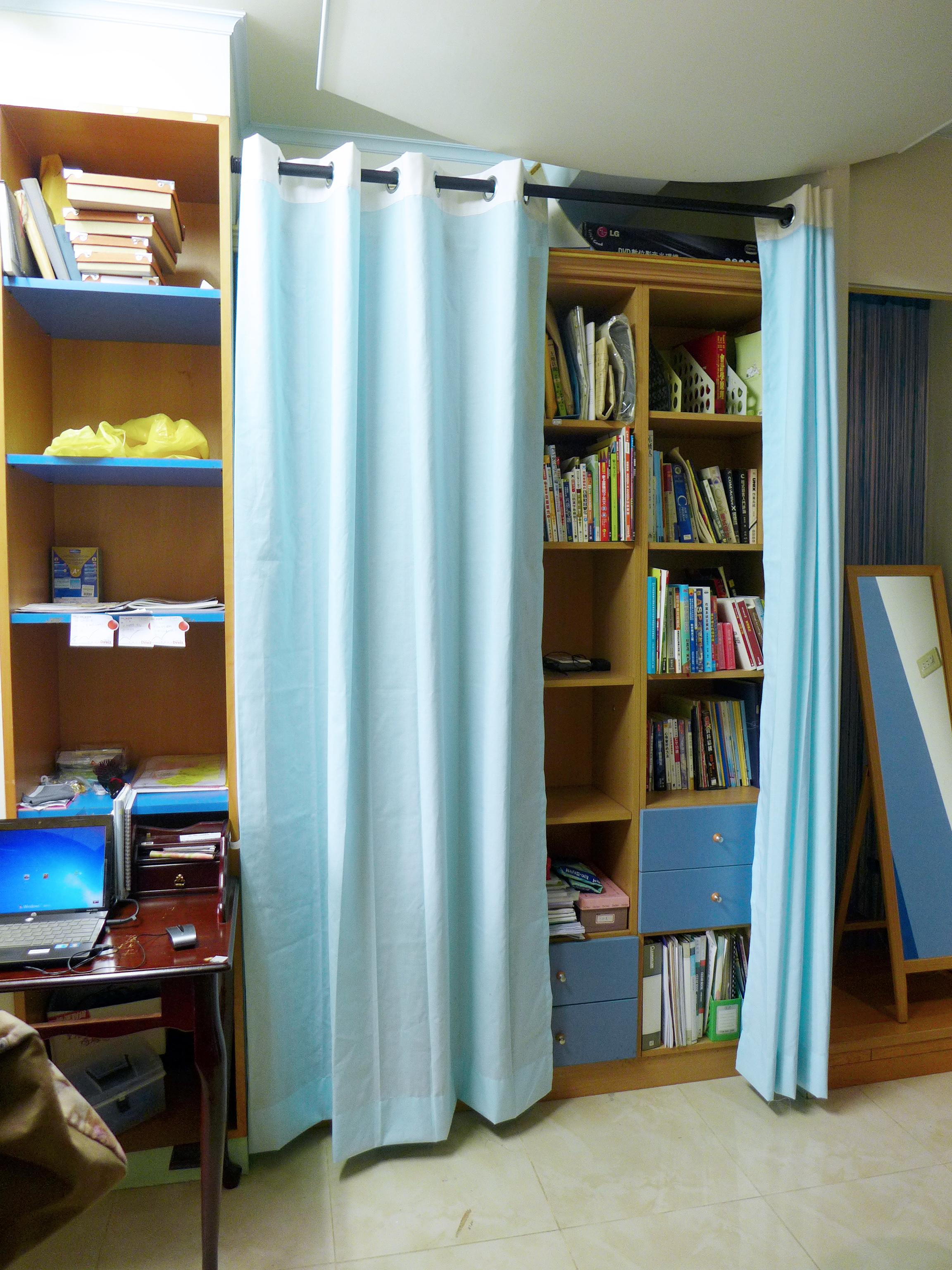 儲物遮蔽 布簾 窗簾 隔間簾 Curtain Partition