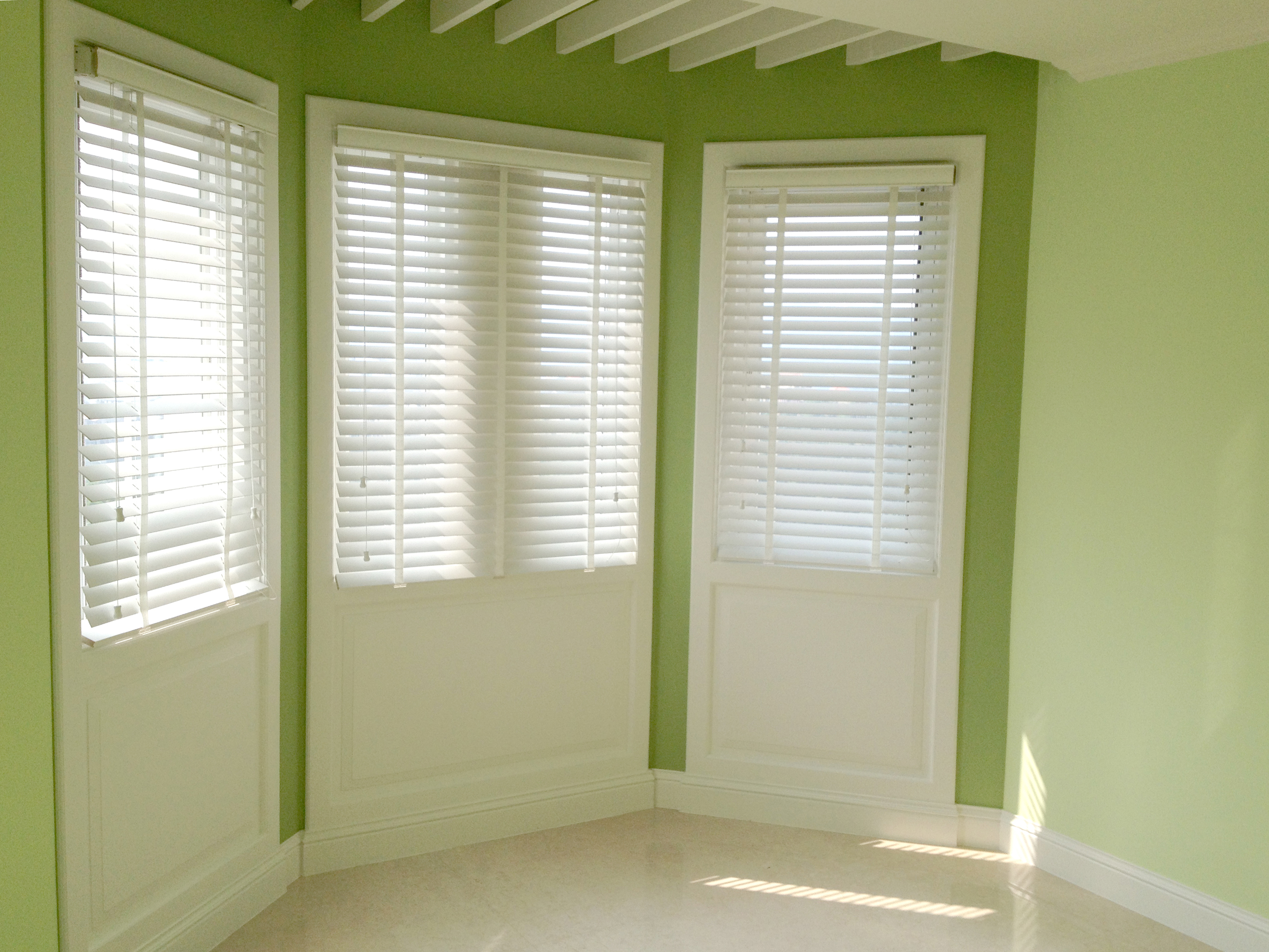 木百葉簾 彩色牆 美式風 Venetian Blinds Interior