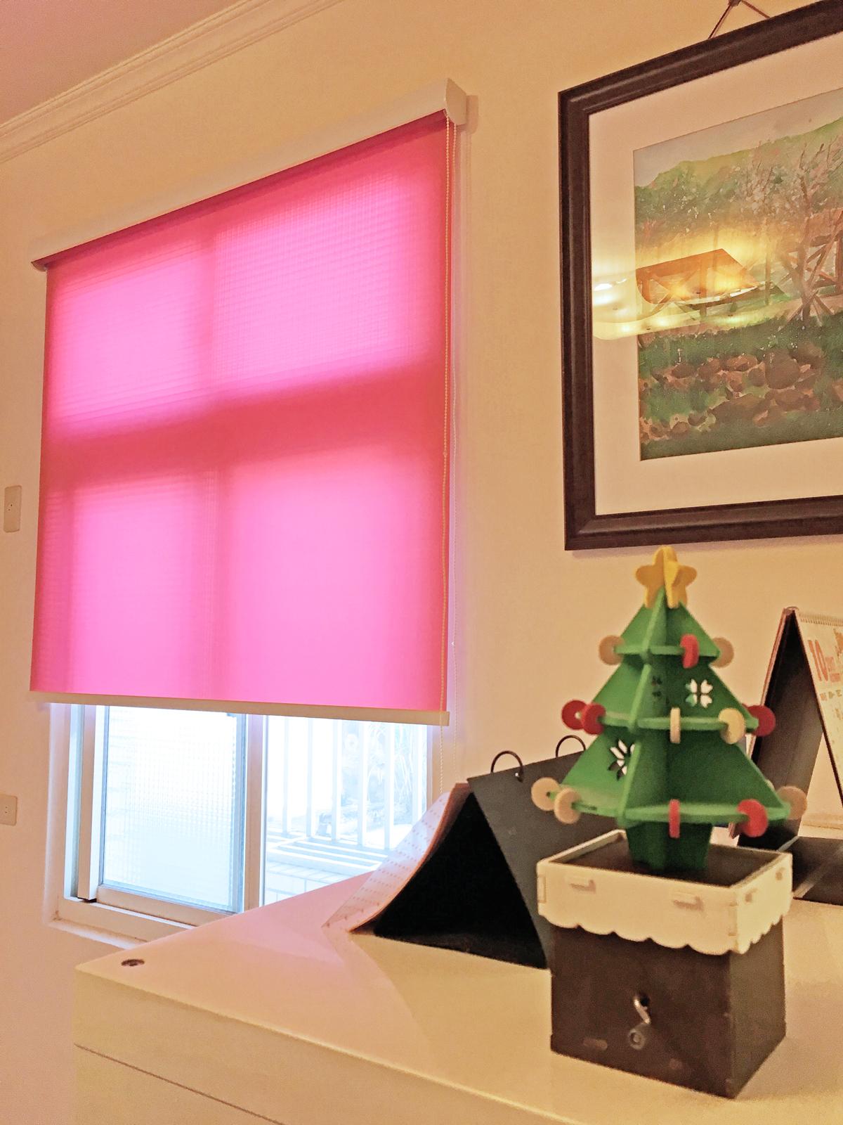 粉紅色窗簾 捲簾 Pink Roller Blinds