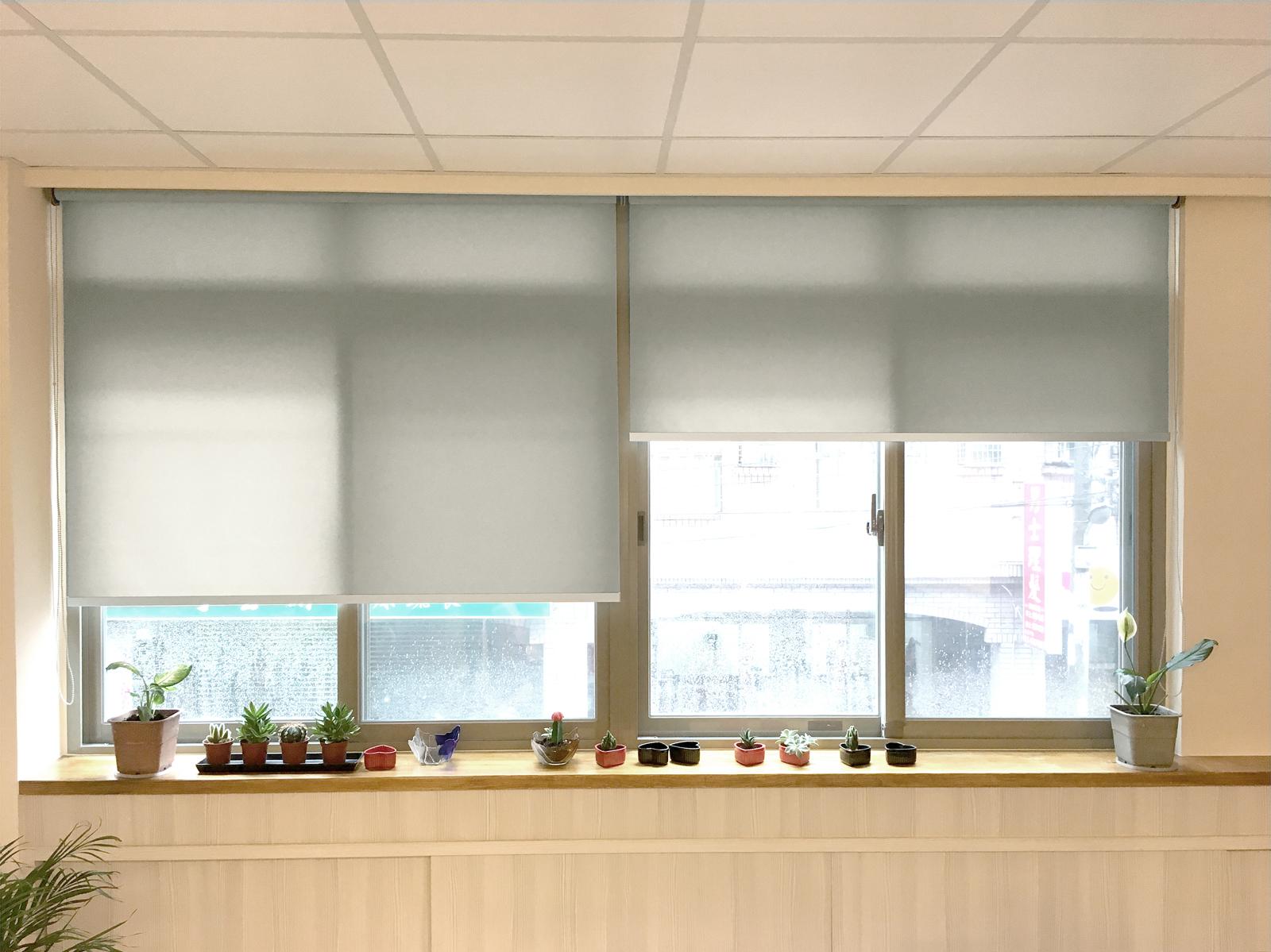[案例] 明亮又有設計感的辦公室窗簾-PVC半透光捲簾