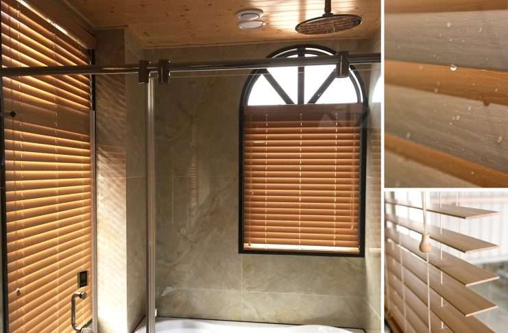 PVC百葉簾 仿木 浴室窗簾 Venetian Blinds Bathroom