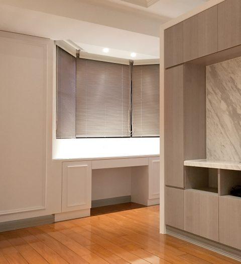 18032006b 480x524 - [案例] 凸窗、八角窗裝窗簾需注意的小細節 -珠鍊式鋁百葉簾.遮光捲簾