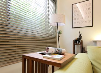 木百葉簾 客廳窗簾 Venetian Blinds Living Room