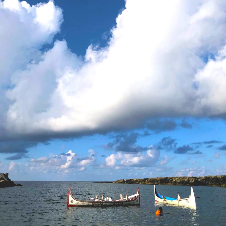 18061307g - [案例] 有海有風有太陽,還有夢:蘭嶼民宿「IGANG文旅」-素色捲簾