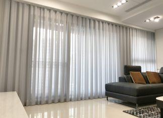 [案例] 灰色系低調奢華的高空美宅-直立簾.蜂巢簾.訂製紗簾.百葉簾