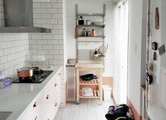 [案例] 春色浪漫,我家廚房裡的粉紅櫻花季 -防水百葉窗簾