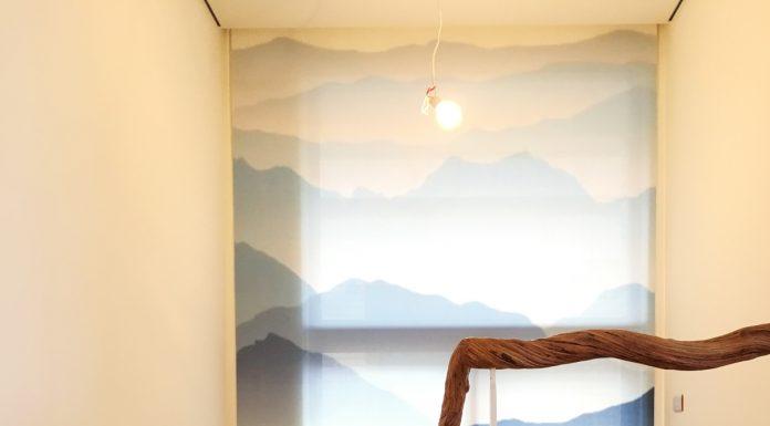[案例] 看見山,看見更廣大的心境視野 -客製化圖案捲簾、大圖輸出窗簾
