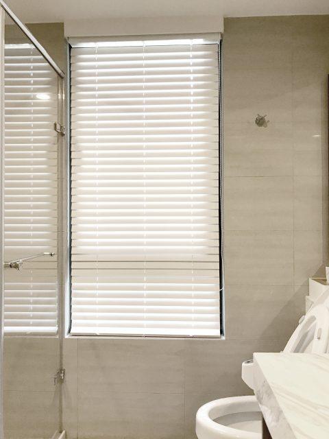 浴室窗簾 防水窗簾 木百葉簾