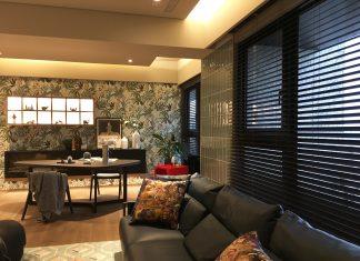 木百葉 百葉簾 客廳窗簾 落地窗窗簾 空間設計 客廳裝潢