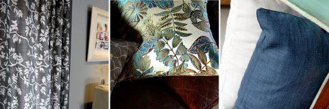 抱枕窗簾推薦 設計款窗簾 緹花抱枕 亞麻抱枕 Design Curtain Cushion