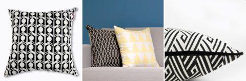 抱枕推薦 幾何 黑白 設計款 Design Cushion Pattern