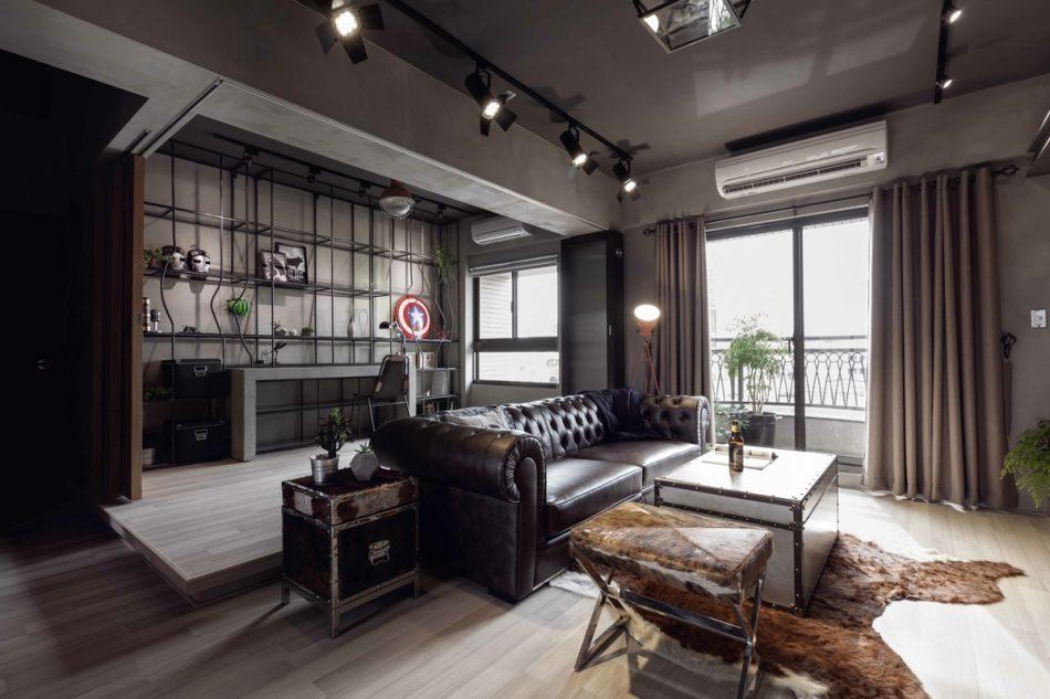 居家風格 工業風 空間設計 空間佈置 租屋族