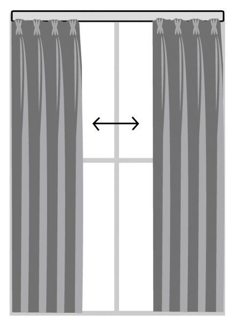 雙開布簾 窗簾訂製 窗簾型式 curtain design