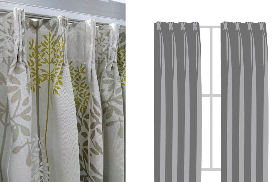 三摺簾 窗簾訂製 窗簾型式 curtain design