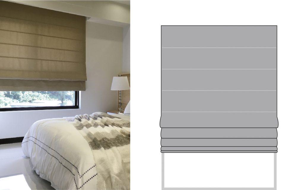 羅馬簾 窗簾訂製 窗簾型式 curtain design roman shade