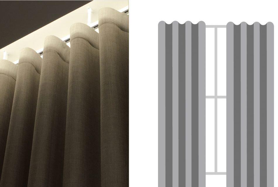 蛇形簾 窗簾訂製 窗簾型式 curtain design