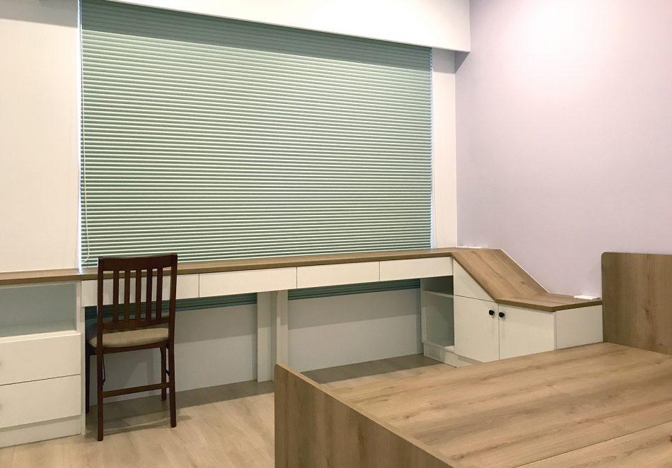 綠色 風巢簾 風琴簾 隔熱窗簾 遮光窗簾