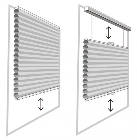 Top Down Bottom Up, Made to Measure, Custom-made, Cordless, children safety, Cellular Shades, Bedroom Shades