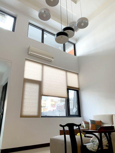 客廳窗簾 蜂巢簾 風琴簾 Honeycomb Shades Living room