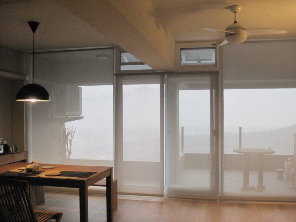 客廳設計 捲簾 居家設計 窗簾推薦 客廳窗簾 Sunscreen RollerBlinds Livingroom