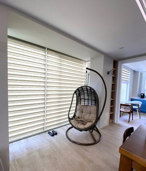斑馬簾 調光捲簾 落地窗 書房窗簾 工作室設計