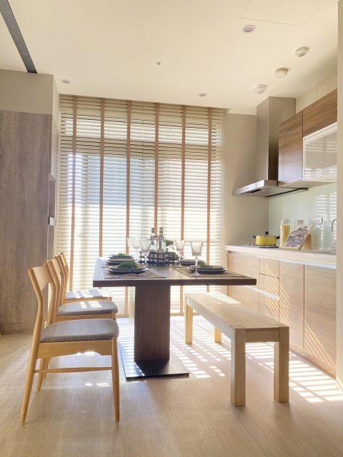 無印風 百葉簾 餐廳設計 窗簾推薦 廚房窗簾