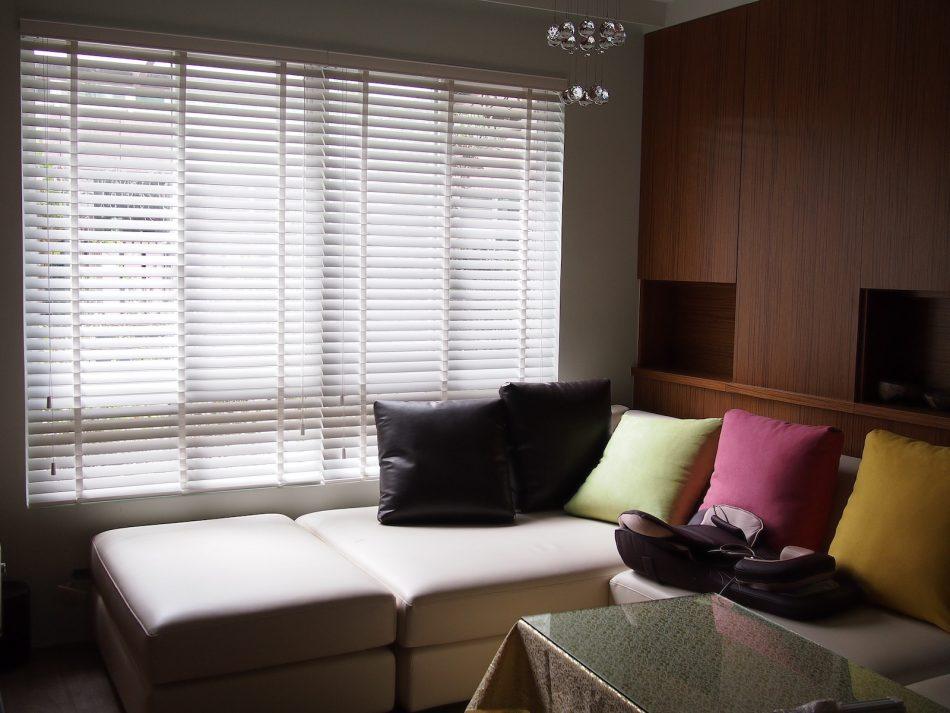 木百葉 百葉簾 客廳窗簾 客廳設計 窗簾設計 現代風