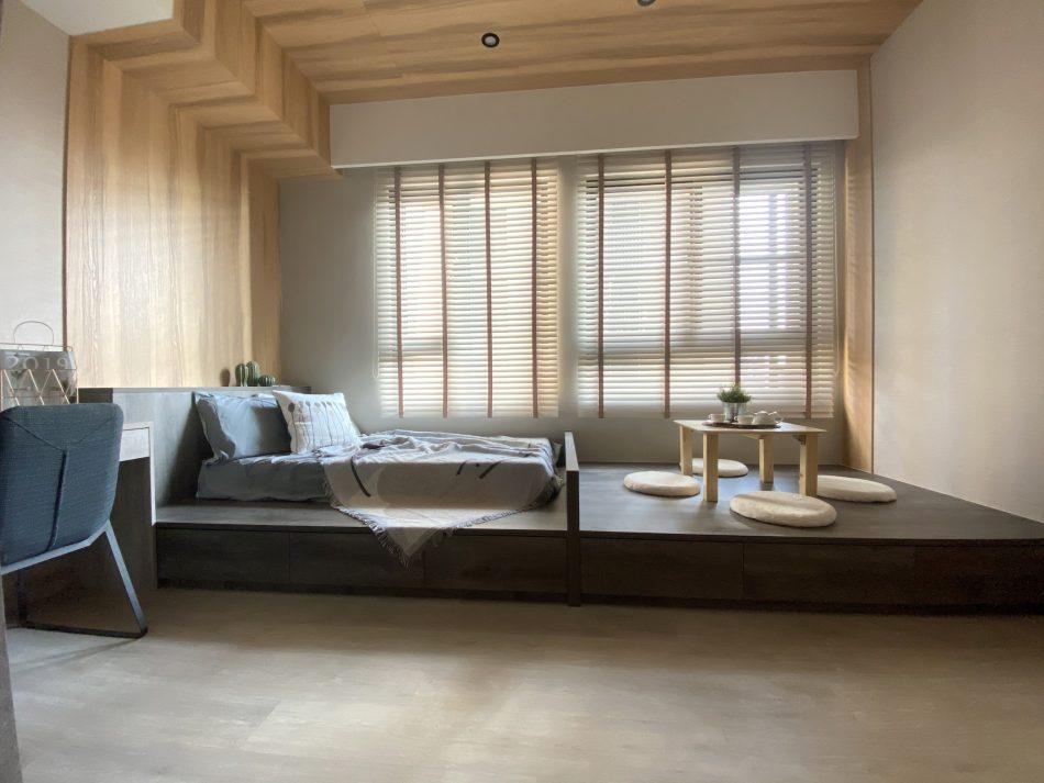 木百葉 臥室窗簾 無印風 臥室裝潢 臥室設計