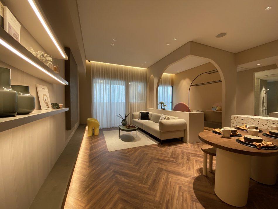客廳窗簾 訂製窗簾 三摺簾 紗簾 開放式設計 歐式風格