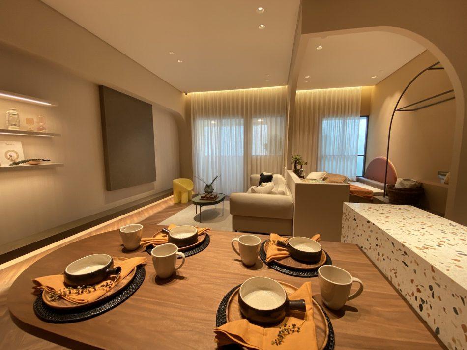 訂製窗簾 三摺簾 紗簾 開放式設計 中島設計 磨石子