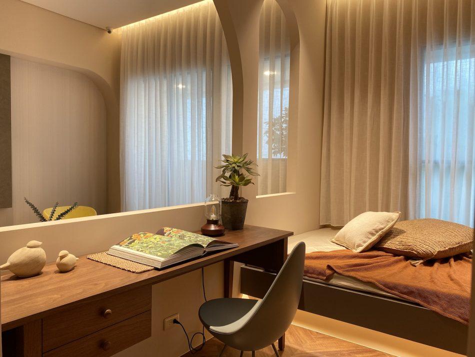 客廳窗簾 訂製窗簾 三摺簾 紗簾 開放式設計 工作室窗簾