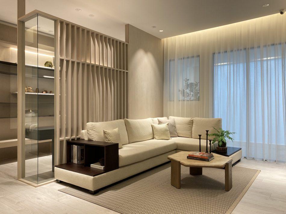 客廳窗簾 訂製窗簾 三摺簾 紗簾 開放式設計 現代風 日式風