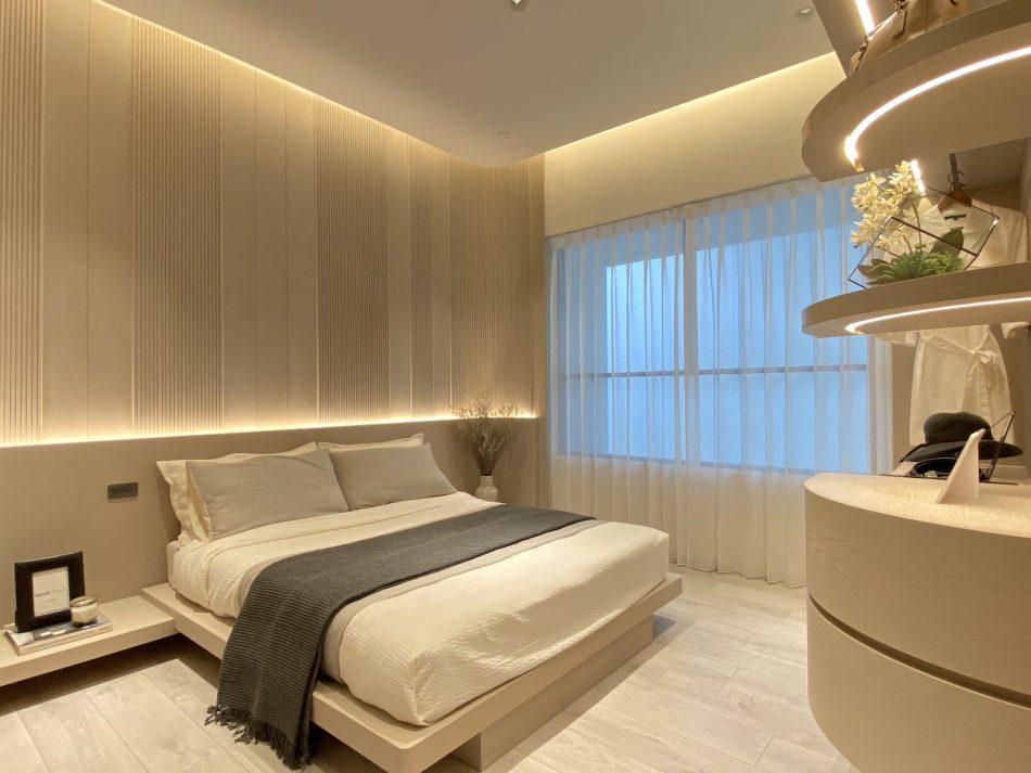 臥室窗簾 訂製窗簾 三摺簾 紗簾 開放式設計 現代風 日式風