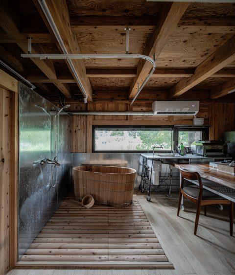 治離線生活的容器 House1/2 木屋 構築設計 治器 百葉簾 開放式設計 浴室設計