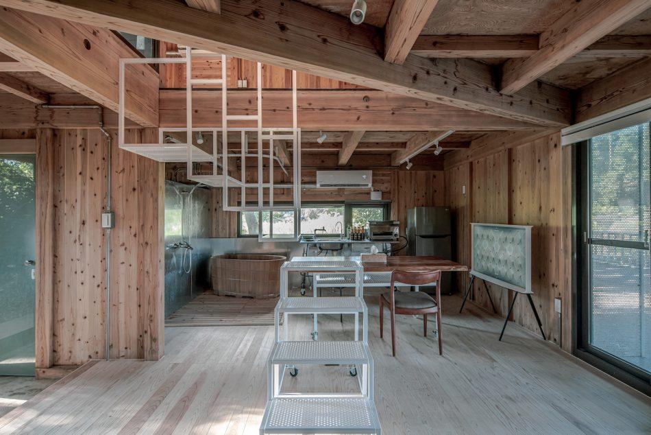 治離線生活的容器 House1/2 木屋 構築設計 治器 百葉簾 開放式設計