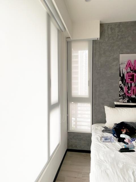雙層窗簾 遮光窗簾 透光窗簾 雙層捲簾 臥室窗簾 簡約風