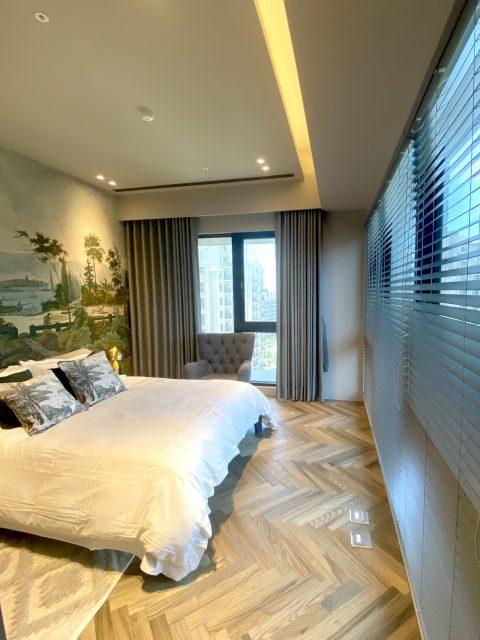 蛇行簾 木百葉 訂製布紗簾 臥室窗簾 臥室設計