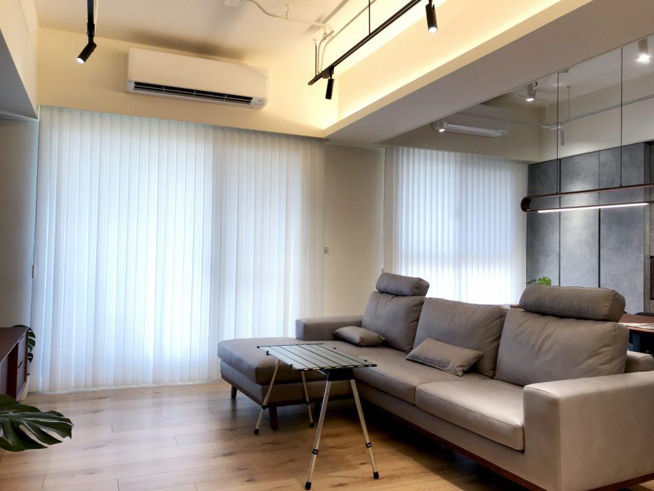 直立簾 採光窗簾 落地窗 簡約風 開放式設計 調光窗簾