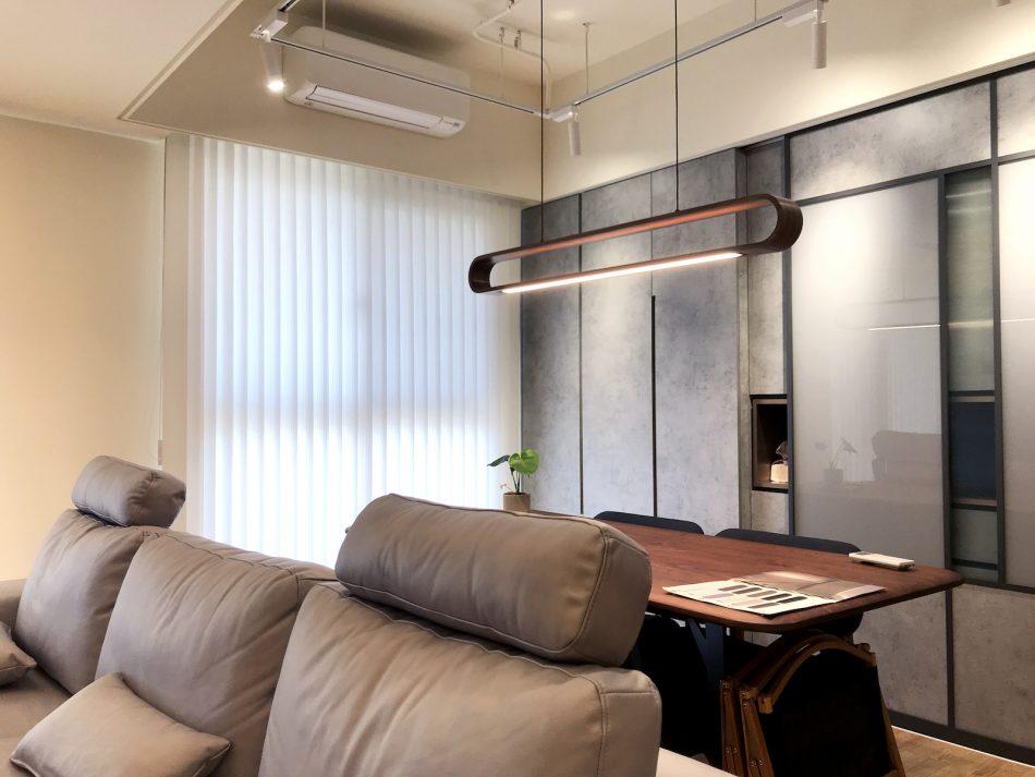 開放式設計 客廳窗簾 工作室窗簾 直立簾 簡約風 採光窗簾