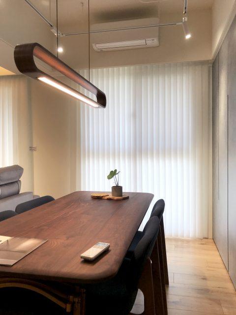 開放式設計 工作室窗簾 直立簾 簡約風 餐廳設計 採光窗簾