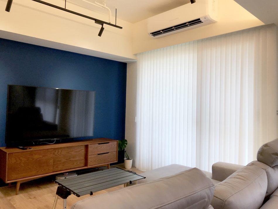 落地窗 客廳窗簾 文青風 直立簾 客廳設計 採光窗簾