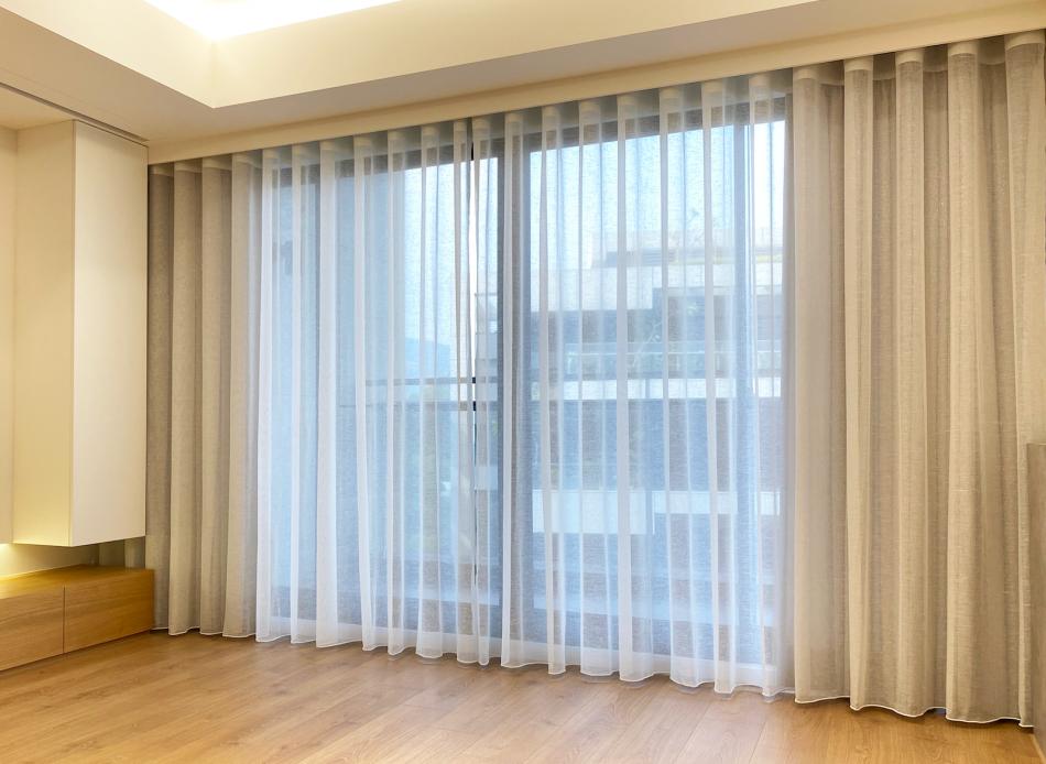 雙層窗簾 蛇形簾 三摺簾 訂製窗簾