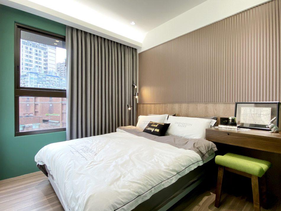 布紗簾 灰色設計 臥室窗簾 臥室設計 遮光窗簾 莫蘭迪色