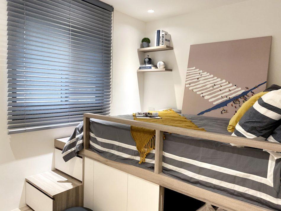 布百葉 灰色設計 臥室窗簾 臥室設計 百葉簾 青少年房 莫蘭迪色