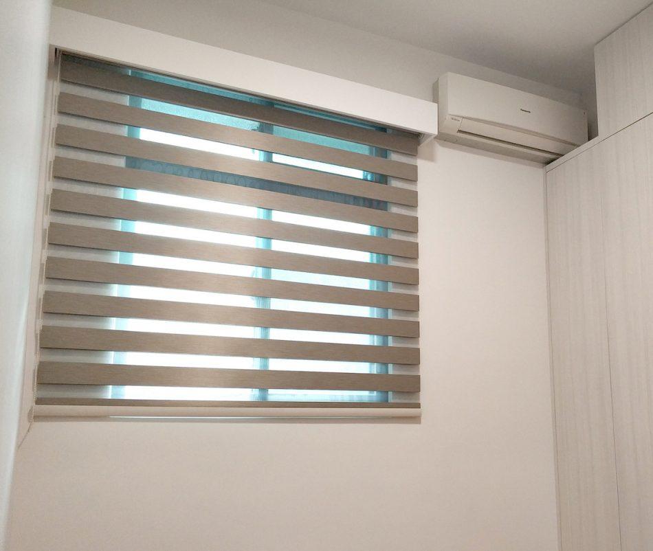 窗簾盒 外掛式窗簾盒 調光捲簾 斑馬簾 臥室窗簾