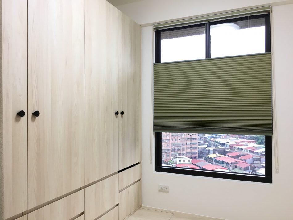 遮光窗簾 蜂巢簾 風琴簾 綠色設計 臥室窗簾